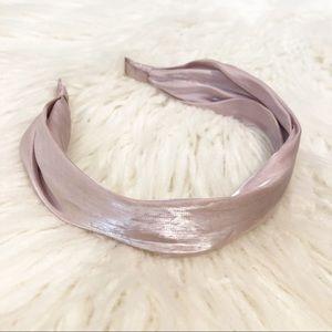 ANTHROPOLOGIE shimmer satin headband NWOT